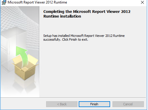 WSUS 2016 error: Report Viewer 2012 Redistributable is required for