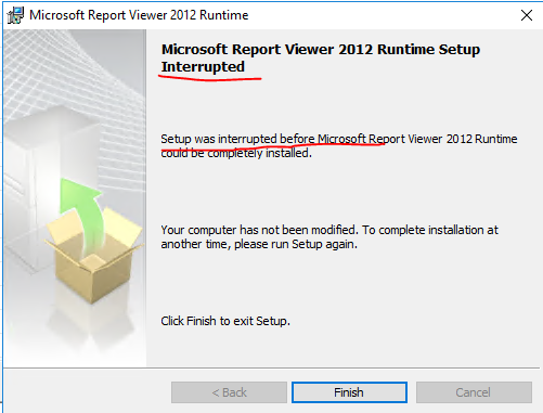 and then report viewer installations fails with below error